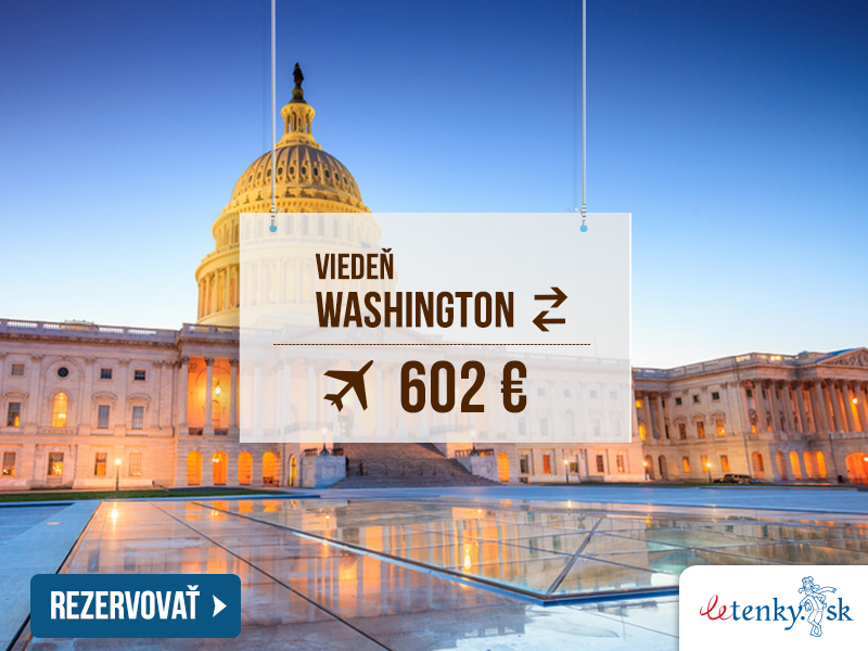 Viedeň – Washington 602 €